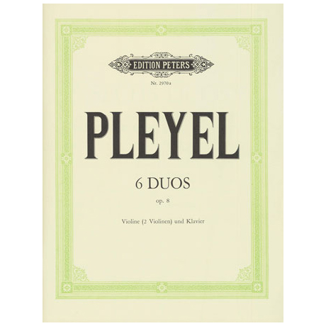 Pleyel: 6 Duos Op.8