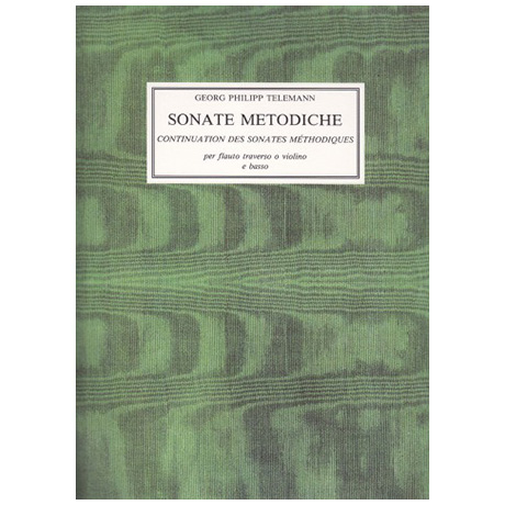 Telemann, G.Ph.: 12 Sonate Metodiche per flauto traverso o violino e basso