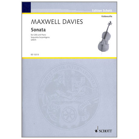 Davies, M.: Violoncellosonata