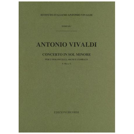 Vivaldi, A.: Violoncellokonzert F. III: 2 g-Moll