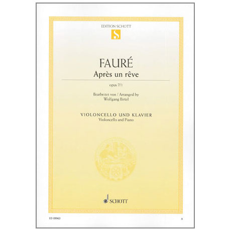 Fauré, G.: Après un rêve Op. 7/1