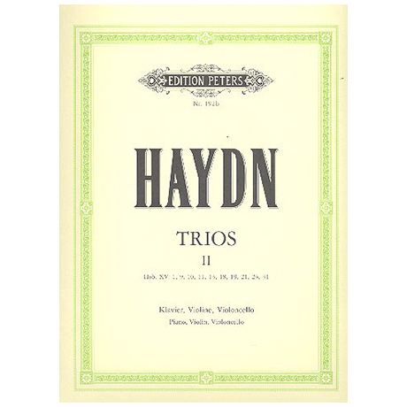 Haydn, J.: Klaviertrios Band 2, Hob XV: 1, 9-11, 13, 18, 19, 21, 23, 31