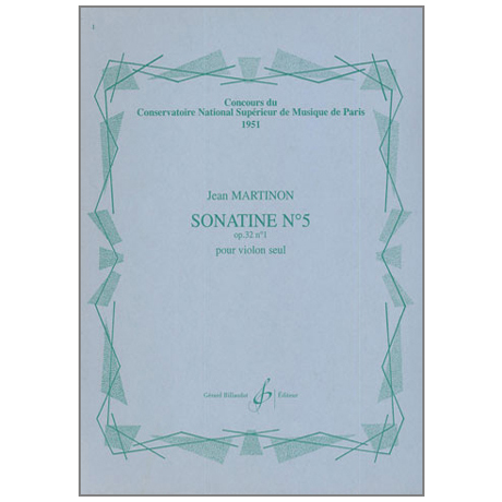 Martinon, J.: Sonatine Nr.5 Op.32/1
