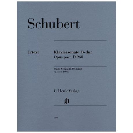 Schubert, F.: Klaviersonate B-Dur D 960