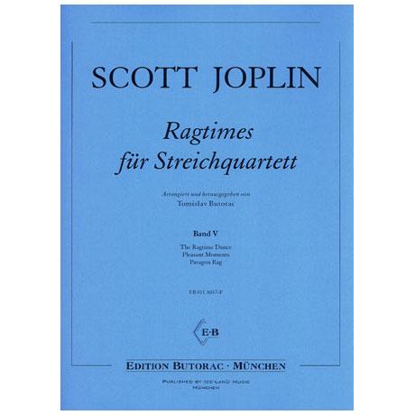 Joplin, S.: Ragtimes für Streichquartett Band 5