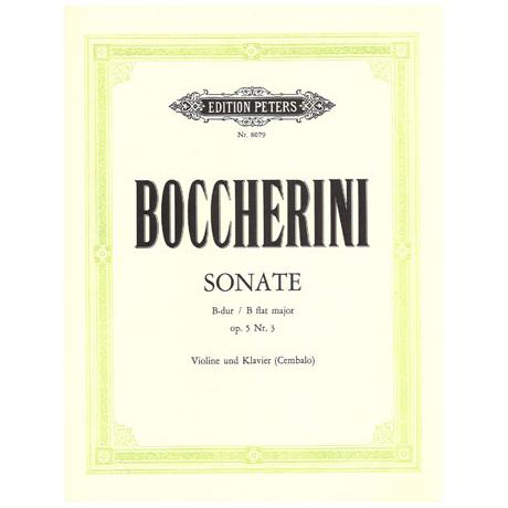 Boccherini, L.: Violinsonate Op. 5/3 B-Dur
