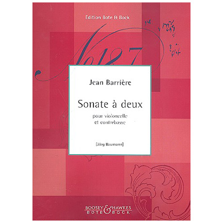 Barrière, J.: Sonate à 2