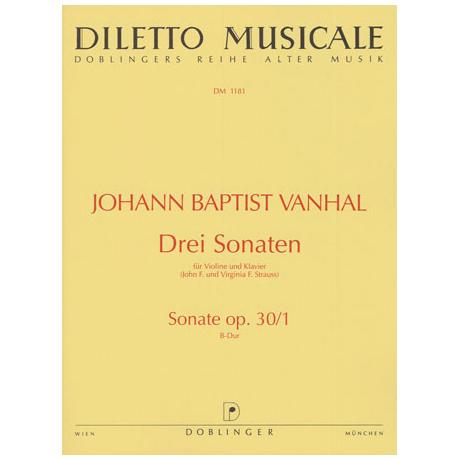 Vanhal, J. B.: 3 Violinsonaten Op. 30/1 B-Dur