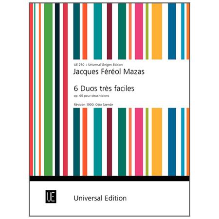 Mazas, J. F.: 6 Duos très faciles Op. 60