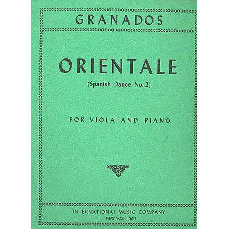Granados, E.: Orientale. Spanischer Tanz Nr. 2