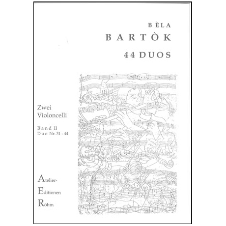 Bartok, B.: 44 Duos für 2 Celli Band 2 (Duo 31- 44)