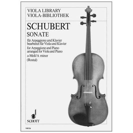 Schubert, F.: Violasonate für Arpeggione D821 a-Moll