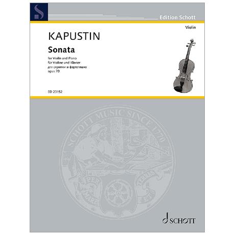 Kapustin, N.: Violinsonate Op. 70 (1992)