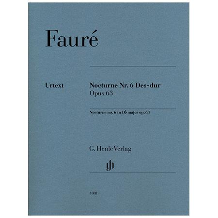 Fauré, G.: Nocturne Nr. 6 Op. 63 Des-Dur