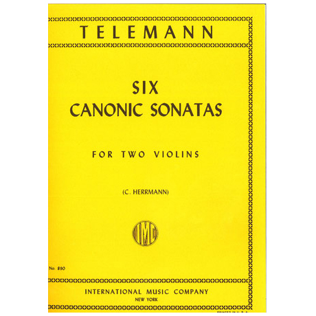 Telemann, G. Ph.: Sechs kanonische Sonaten