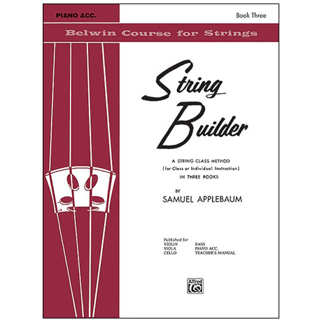 Applebaum, S.: String Builder Book Three – Piano