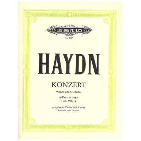 Haydn; J.: Violinkonzert A-Dur, Hob. VIIa:3 mit Kadenz