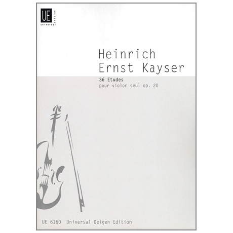 Kayser, H. E.: 36 Etüden op. 20