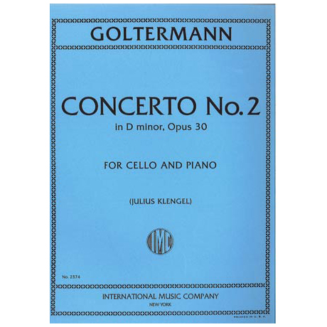 Goltermann, G.: Violoncellokonzert Nr. 2 Op. 30 d-moll