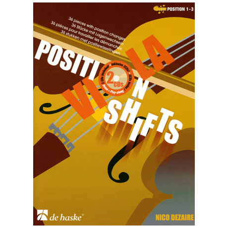 Dezaire, N.: Viola Position Shifts (+2 CD's)