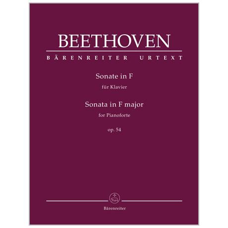 Beethoven, L. v.: Klaviersonate Op. 54 F-Dur