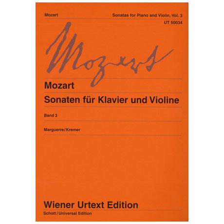 Mozart, W.A.: Sonaten Band 3 (KV 454, 481, 526, 547)