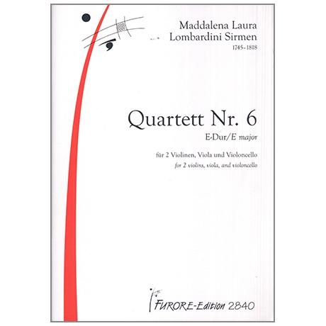 Lombardini-Sirmen, M. L.: Quartett Nr.6 E-Dur