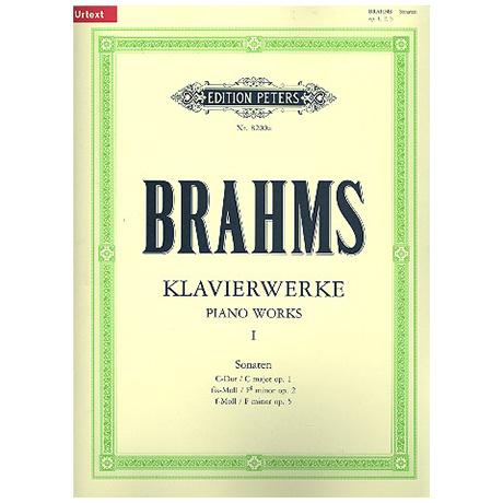 Brahms, J.: Sonaten Op. 1, 2, 5