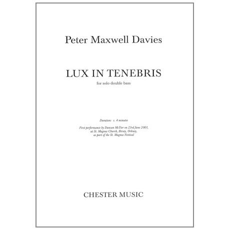 Davies, M.: Lux in Tenebris