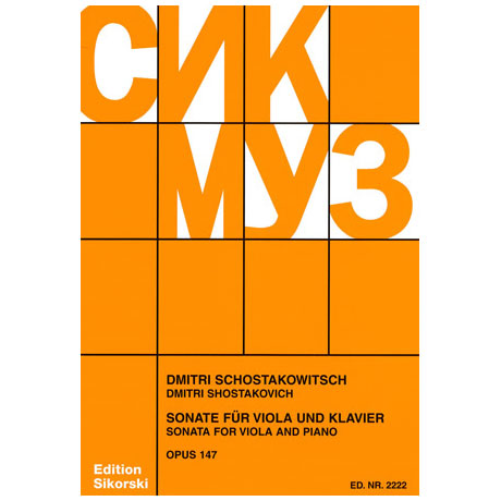 Schostakowitsch, D.: Violasonate Op. 147