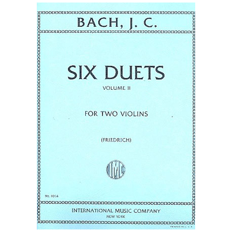 Bach, J.Ch.: 6 Duette Band 2