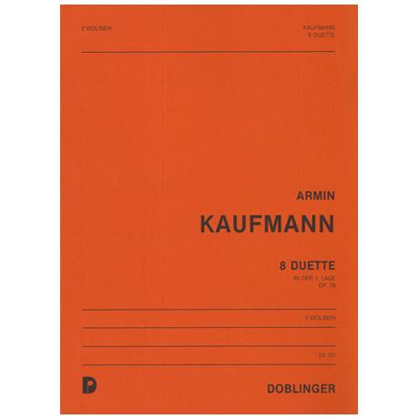 Kaufmann, A.: 8 Duette Op.76