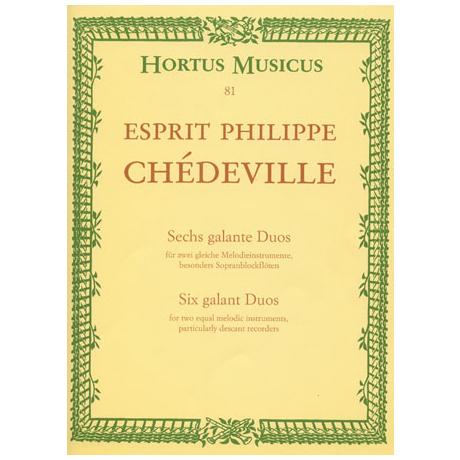 Chédeville, E. P.: 6 galante Duos