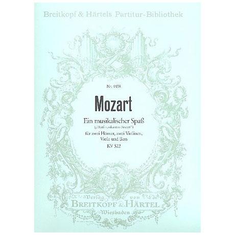 Mozart, W.A.: Ein musikalischer Spaß F-Dur KV 522, Partitur