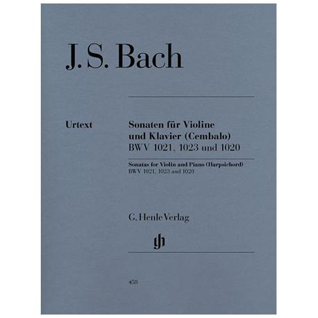 Bach, J. S.: Drei Violinsonaten BWV 1020, 1021,1023