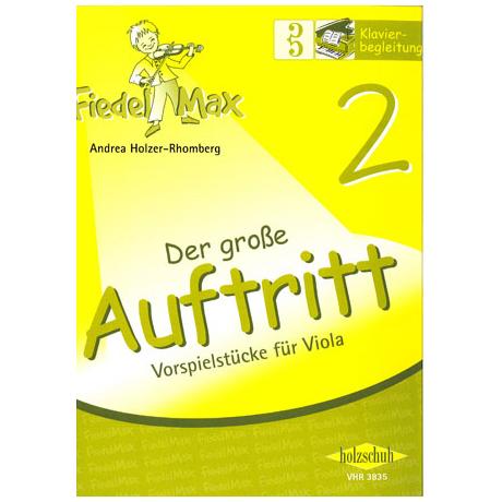 Holzer-Rhomberg, A.: Fiedel-Max. Der große Auftritt 2 für Viola – Klavierbegleitung