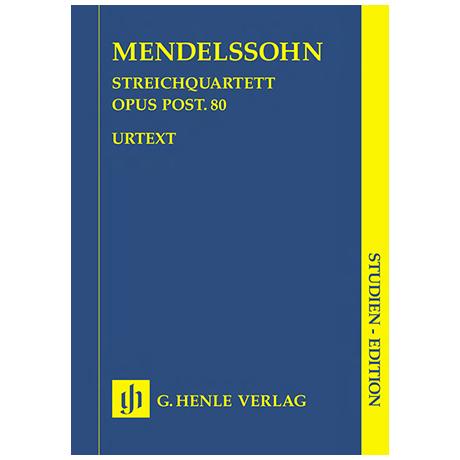 Mendelssohn Bartholdy, F.: Streichquartett Op. posth. 80 f-Moll – Partitur
