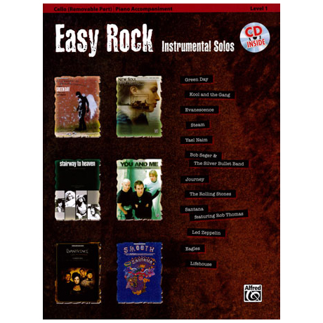 Easy Rock Instrumental Solos for Cello (+CD)