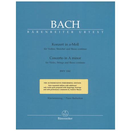 Bach, J. S.: Konzert BWV1041  a-moll