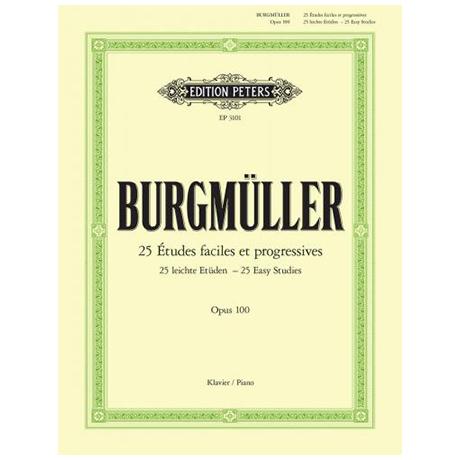 Burgmüller, Fr.: 25 leichte Etüden Op.100