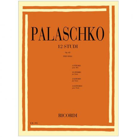 Palaschko, J.: 12 Violaetüden Op. 62