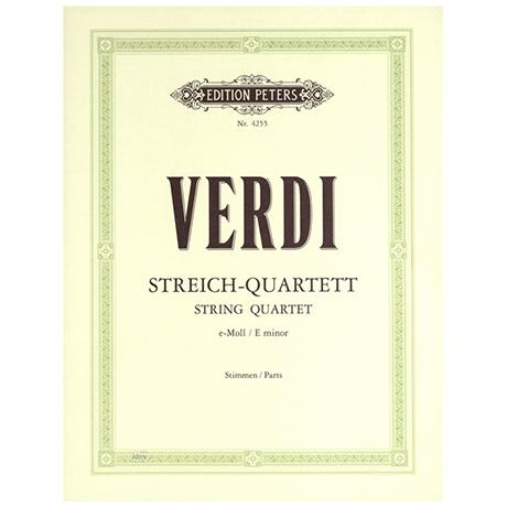 Verdi, G.: Streichquartett e-moll