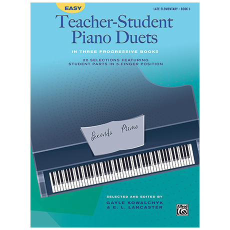 Easy Teacher-Student Piano Duets in 3 Progressive Books, Book 3