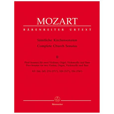 Mozart, W.A.: Sämtliche Kirchensonaten - Heft 2