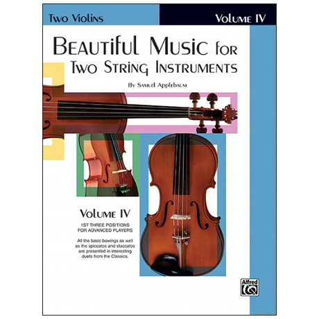 Applebaum, S.: Beautiful Music for two String Instruments Vol. 4 – Violine