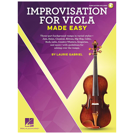 Gabriel, L.: Improvisation for Viola Made Easy (+Online Audio)