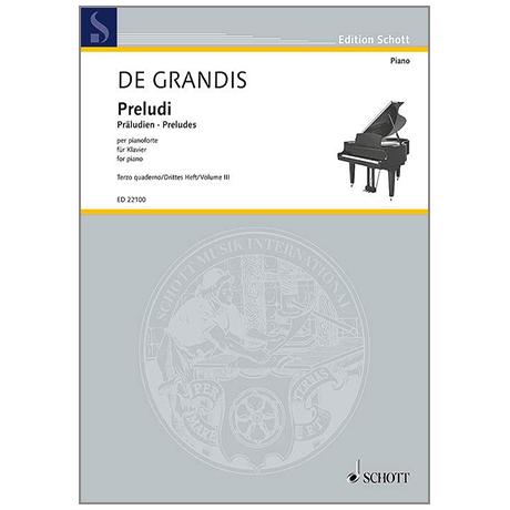 Grandis, R. d.: Preludi Heft 3