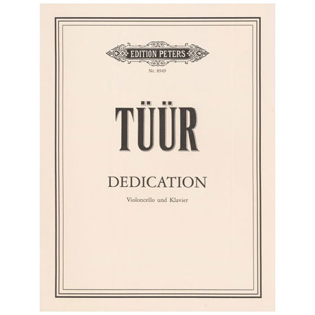 Tüür, E. S.: Dedication
