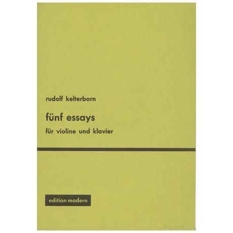 Kelterborn, R.: 5 Essays (1956)