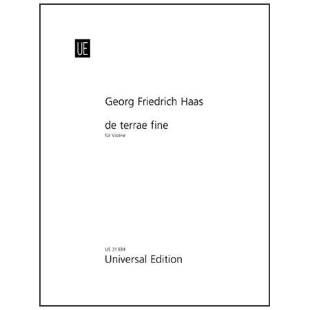 Haas, G. F.: de terrae fine